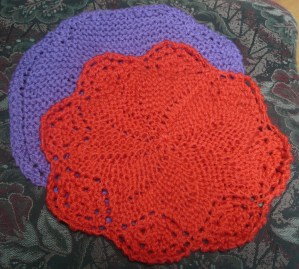 April 16hot pads knitted