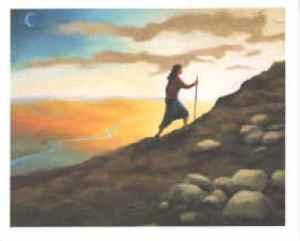a_woman_climbing_a_mountain